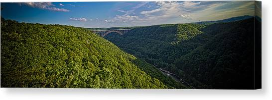 New River Panoramic Canvas Print