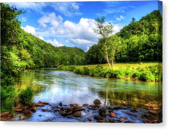 New River Summer Canvas Print