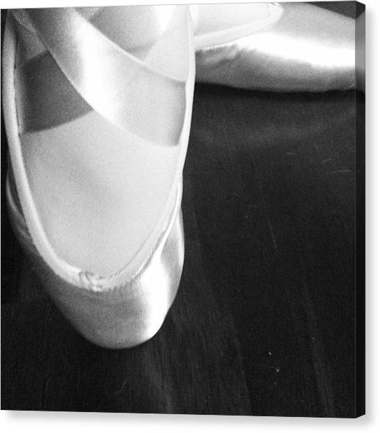Ballet Shoes Canvas Print - En Pointe by Emily B