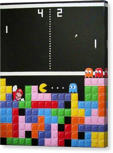 Tetris Canvas Print - New Species Of The 20th Century by Ingrid Stiehler