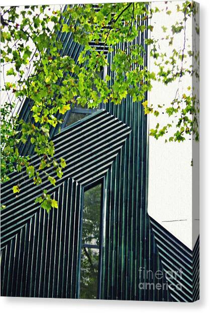 Canvas Print - New Synagogue Mainz 2 by Sarah Loft