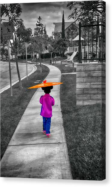 Gia Walk To Playground Canvas Print