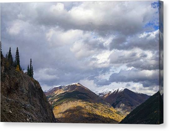 Peeking At The Peaks Canvas Print
