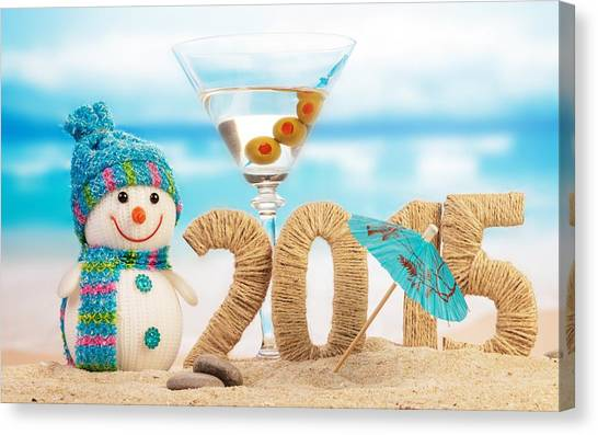 Iced Tea Canvas Print - New Year 2015 by Mariel Mcmeeking