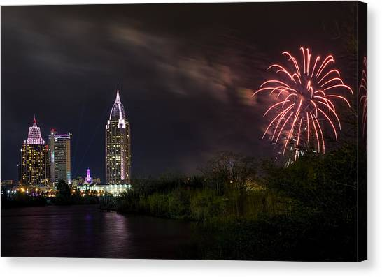 New Year Celebration 3 Canvas Print