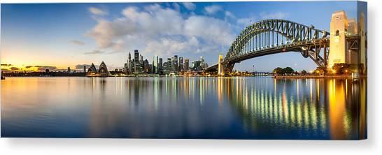 Sydney Skyline Canvas Print - New Year Inspirations by Az Jackson