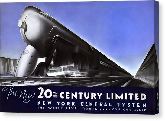 Trainspotting Canvas Print - New York 20th Century Limited Train  1938 by Daniel Hagerman
