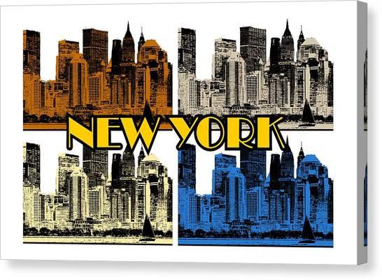 New York 4 Color Canvas Print
