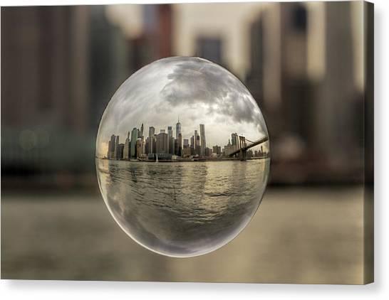 New York Bubble Canvas Print by Zev Steinhardt