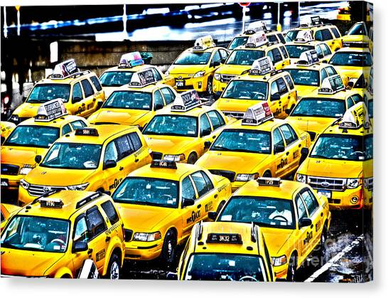 New York Cab Canvas Print by Alessandro Giorgi Art Photography