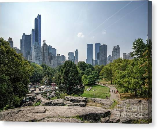 New York Central Park With Skyline Canvas Print
