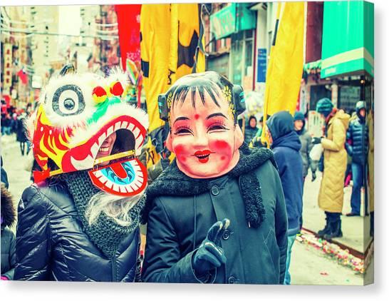 New York Chinatown Canvas Print