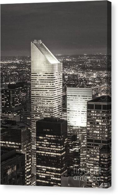 Canvas Print featuring the photograph New York Citigroup Center  by Juergen Held