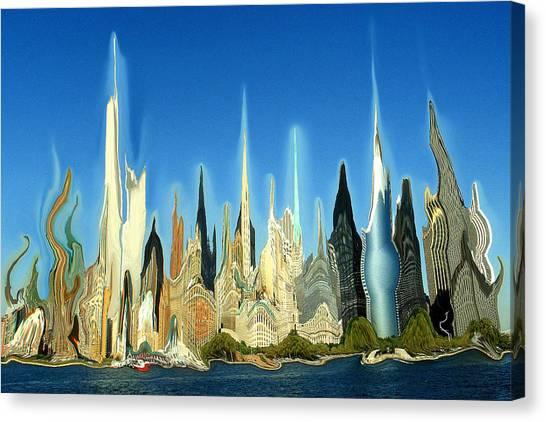 New York City 2100 - Modern Art Canvas Print