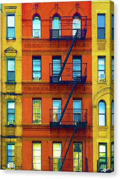 Pre-modern Art Canvas Print - New York City Apartment Building 2 by Tony Rubino