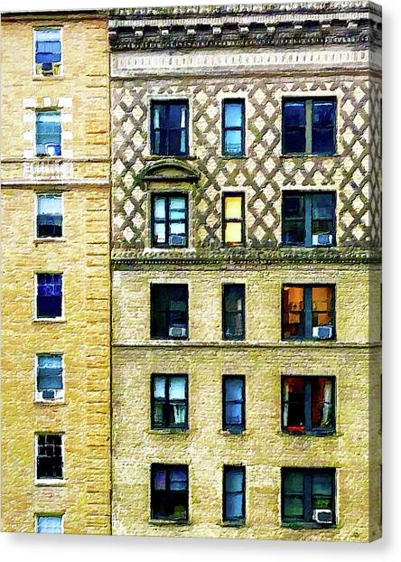 Pre-modern Art Canvas Print - New York City Apartment Building by Tony Rubino