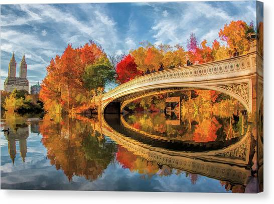 New York City Central Park Bow Bridge Canvas Print