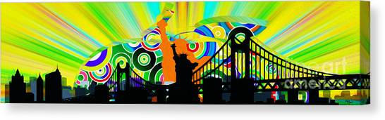 Liberty University Canvas Print - New York City Colors by Stefano Senise