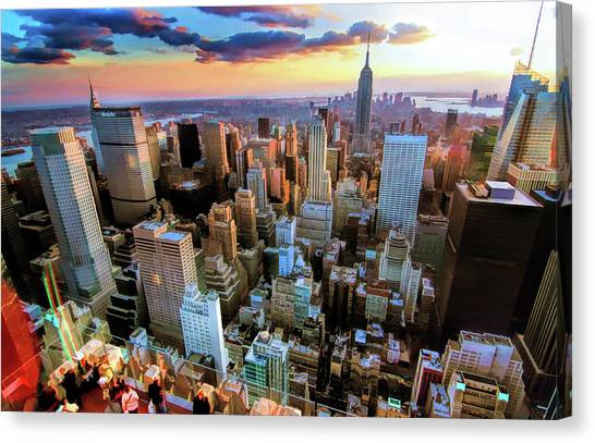 New York City Downtown Manhattan Canvas Print