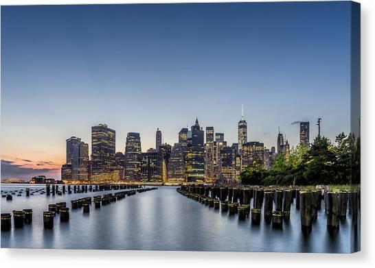 New York City Dusk Canvas Print