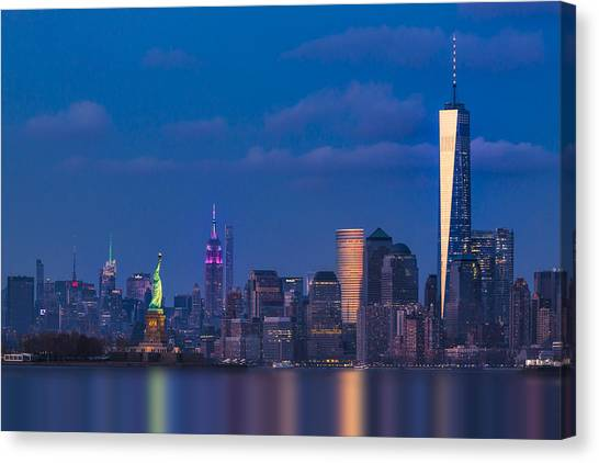 Canvas Print featuring the photograph New York City Icons by Susan Candelario