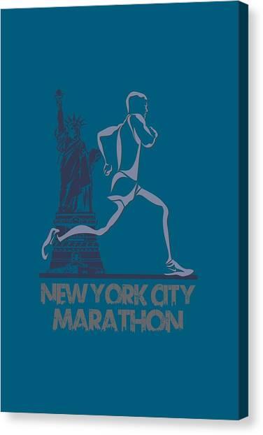 Athens Canvas Print - New York City Marathon3 by Joe Hamilton