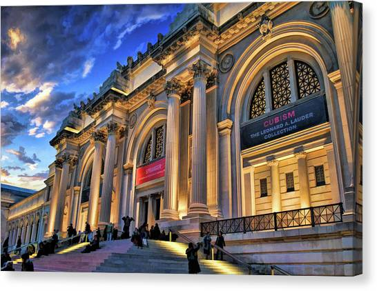 The Metropolitan Museum Of Art Canvas Print - New York City Metropolitan Museum Of Art by Christopher Arndt
