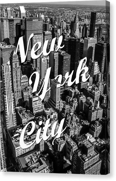 Word Art Canvas Print - New York City by Nicklas Gustafsson