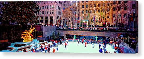 New York City Rockefeller Center Ice Rink  Canvas Print