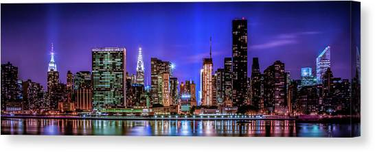 Canvas Print featuring the photograph New York City Shine by Theodore Jones