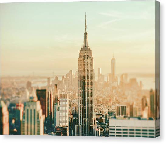 New York Skyline Canvas Print - New York City - Skyline Dream by Vivienne Gucwa