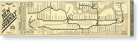 New York Subway Map To Print.New York City Subway Map Canvas Prints Fine Art America