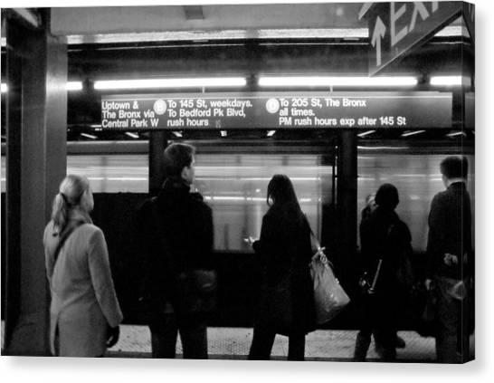 New York City Subway Canvas Print by Patrick  Flynn