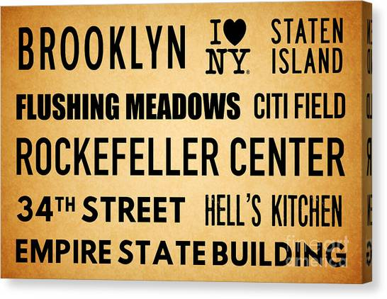 Citi Field Canvas Print - New York City Subway Sign Typography Art 13 by Nishanth Gopinathan