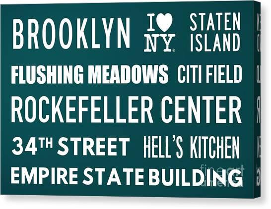 Citi Field Canvas Print - New York City Subway Sign Typography Art 15 by Nishanth Gopinathan