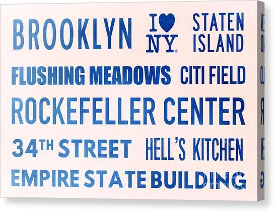 Citi Field Canvas Print - New York City Subway Sign Typography Art 17 by Nishanth Gopinathan