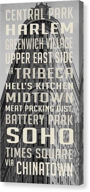 Harlem Canvas Print - New York City Subway Stops Flat Iron Building by Edward Fielding