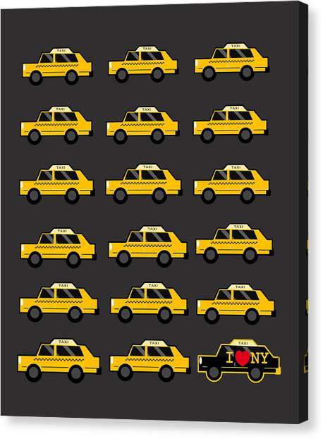 New York Signs Canvas Print - New York City Taxi by Art Spectrum
