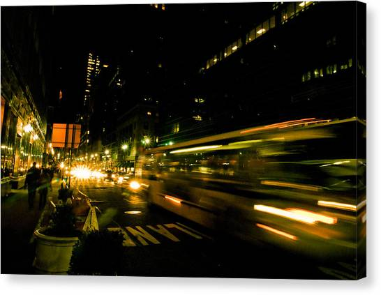 New York City Traffic Canvas Print by Patrick  Flynn