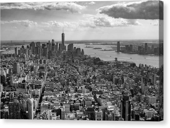 New York City - View From Empire State Building Canvas Print