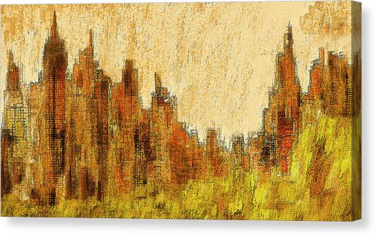 New York City In The Fall Canvas Print