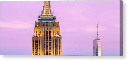 Empire State Building Canvas Print - New York Giants by Az Jackson