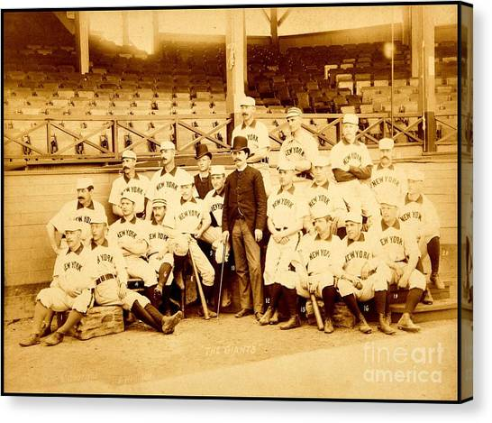 Nolan Ryan Canvas Print - New York Giants New York Baseball Club 1888 by Peter Ogden