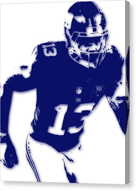 Odell Beckham Jr Canvas Print - New York Giants Odell Beckham Jr by Joe Hamilton