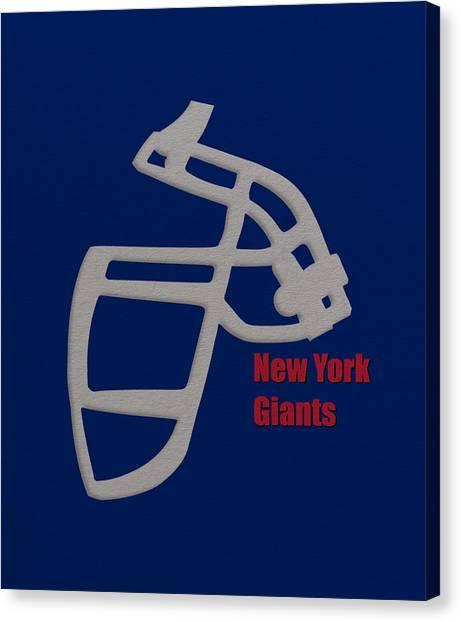 New York Giants Canvas Print - New York Giants Retro by Joe Hamilton