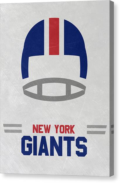 New York Giants Canvas Print - New York Giants Vintage Art by Joe Hamilton