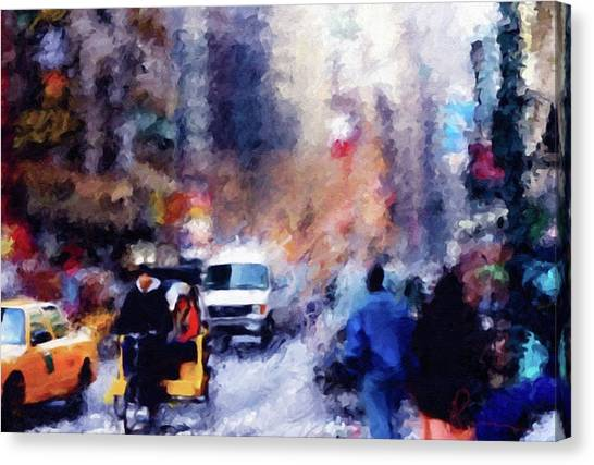 China Town Canvas Print - New York Hustle And Bustle by Isabella Howard