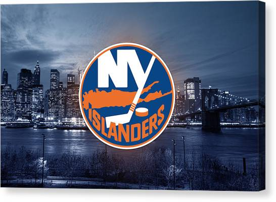 New York Islanders Canvas Print - New York Islanders Artwork  by Nicholas Legault