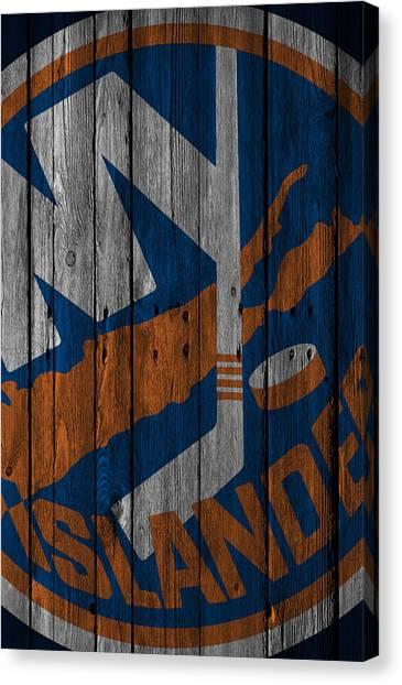 New York Islanders Canvas Print - New York Islanders Wood Fence by Joe Hamilton