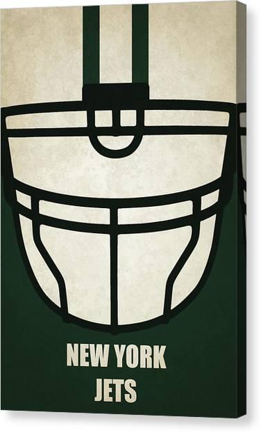 New York Jets Canvas Print - New York Jets Helmet Art by Joe Hamilton